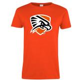 Ladies Orange T Shirt-Falcon Shield