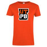 Ladies Orange T Shirt-UTPB Stacked