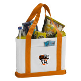 Contender White/Orange Canvas Tote-Official Logo