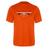Performance Orange Tee-UT Permian Basin Football Flat w/ Football