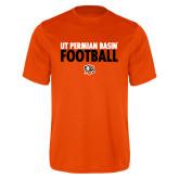 Performance Orange Tee-UT Permian Basin Football Stacked