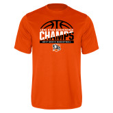 Performance Orange Tee-2017 Lone Star Conference Champs - Mens Basketball