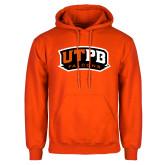 Orange Fleece Hoodie-UTPB Falcons