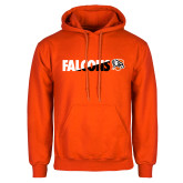 Orange Fleece Hoodie-Falcons Split Two-Tone