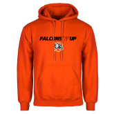 Orange Fleece Hoodie-Falcons Up