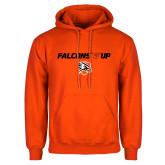 Orange Fleece Hoodie-Falcons Up