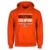 Orange Fleece Hoodie-2017 Lone Star Conference Champions - Mens Basketball