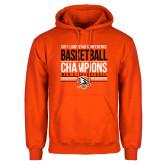 Orange Fleece Hoodie-2017 Lone Star Conference Champions - Mens Basketball