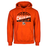 Orange Fleece Hoodie-2017 Lone Star Conference Champs - Mens Basketball