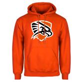Orange Fleece Hoodie-Falcon Shield