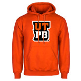 Orange Fleece Hoodie-UTPB Stacked