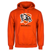 Orange Fleece Hoodie-Baseball