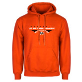 Orange Fleece Hoodie-UT Permian Basin Football Flat w/ Football