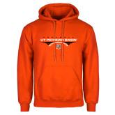 Orange Fleece Hoodie-UT Permian Basin Football Flat w/ Football