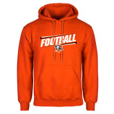 Orange Fleece Hoodie-Football Slanted w/Falcon Shield