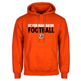 Orange Fleece Hoodie-UT Permian Basin Football Stacked
