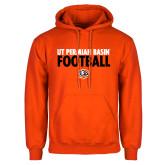 Orange Fleece Hoodie-UT Permian Basin Football Stacked