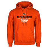 Orange Fleece Hoodie-UT Permian Basin Basketball w/Net Icon