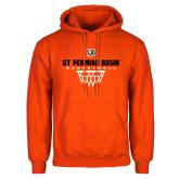 Orange Fleece Hoodie-UT Permian Basin Basketball w/Net Icon