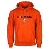 Orange Fleece Hoodie-Volleyball Flat w/ Ball