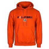 Orange Fleece Hoodie-Volleyball Flat w/ Ball