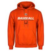 Orange Fleece Hoodie-UT Permian Baseball Stencil w/ Ball