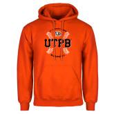 Orange Fleece Hoodie-UTPB Baseball w/ Seams