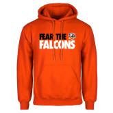 Orange Fleece Hoodie-Fear The Falcons