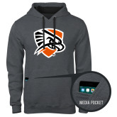 Contemporary Sofspun Charcoal Heather Hoodie-Falcon Shield