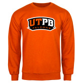 Orange Fleece Crew-UTPB Falcons