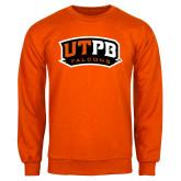 Orange Fleece Crew-UTPB Falcons