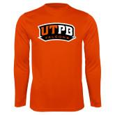 Performance Orange Longsleeve Shirt-UTPB Falcons