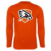 Performance Orange Longsleeve Shirt-Falcon Shield