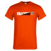 Orange T Shirt-Falcons Split Two-Tone