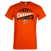 Orange T Shirt-2017 Lone Star Conference Champs - Mens Basketball