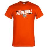 Orange T Shirt-Football Slanted w/Falcon Shield