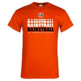 Orange T Shirt-UT Permian Basin Basketball Repeating