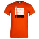 Orange T Shirt-Tennis Repeating w/ Falcon Shield