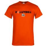 Orange T Shirt-Volleyball Flat w/ Ball