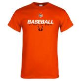 Orange T Shirt-UT Permian Baseball Stencil w/ Ball
