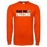 Orange Long Sleeve T Shirt-Fear The Falcons