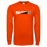 Orange Long Sleeve T Shirt-Falcons Split Two-Tone