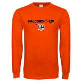 Orange Long Sleeve T Shirt-Falcons Up