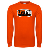 Orange Long Sleeve T Shirt-UTPB Falcons