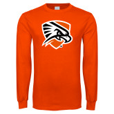 Orange Long Sleeve T Shirt-Falcon Shield