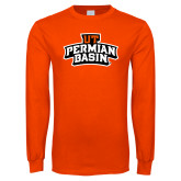Orange Long Sleeve T Shirt-UT Permian Basin Arched