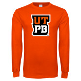 Orange Long Sleeve T Shirt-UTPB Stacked