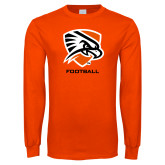 Orange Long Sleeve T Shirt-Football
