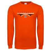 Orange Long Sleeve T Shirt-UT Permian Basin Football Flat w/ Football