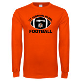 Orange Long Sleeve T Shirt-UT Permian Basin Arched w/ Full Ball